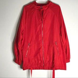 ZARA Jacket NWOT Parka Windbreaker Red trf Coat